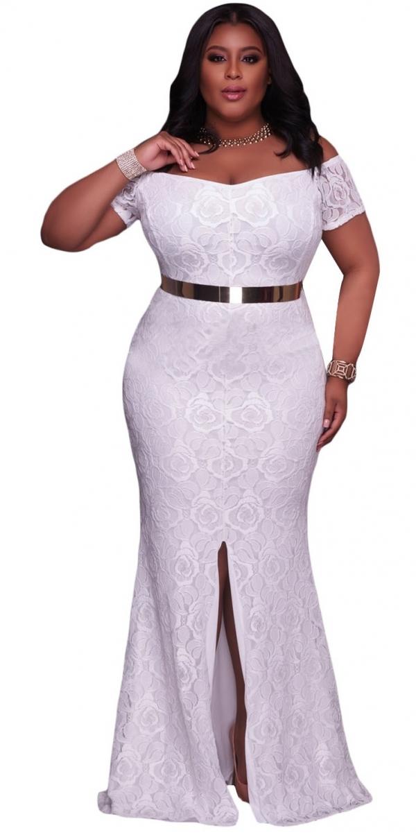 φορέματα plus size για βάπτιση